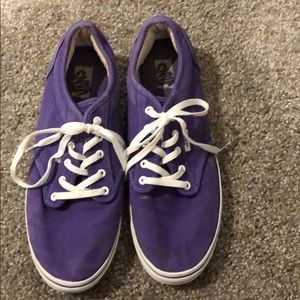 Women's purple vans size 8.5